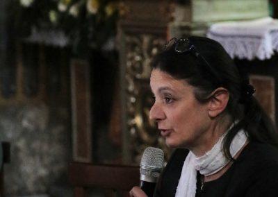 Monica Abeni presenta le ricerche effettuate per il restauro della pala