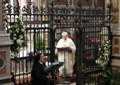Al termine della S. Messa, celebrata dal Rettore del Santuario, il ringraziamento e l'augurio della Superiora Generale
