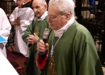 Celebrazione presieduta dal Rettore del Santuario con Don Giuseppe Cardani