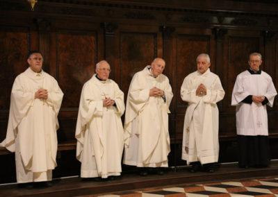 Altri sacerdoti concelebranti: da sinistra Don Pierantonio Lanzoni, Mons. Angelo Bonetti, Mons. Enrico Tosi