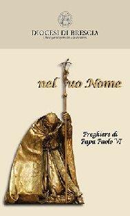 Copertina sussidio: nel tuo Nome - Preghiere di Papa Paolo VI