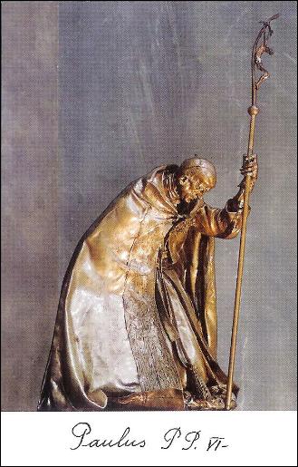 Beato Papa Paolo VI Davanti alla croce