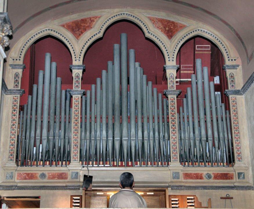 Organo Tonoli: Le canne della facciata