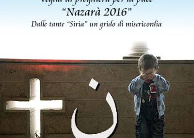 Locandina Veglia di Preghiera Nazarà 2016