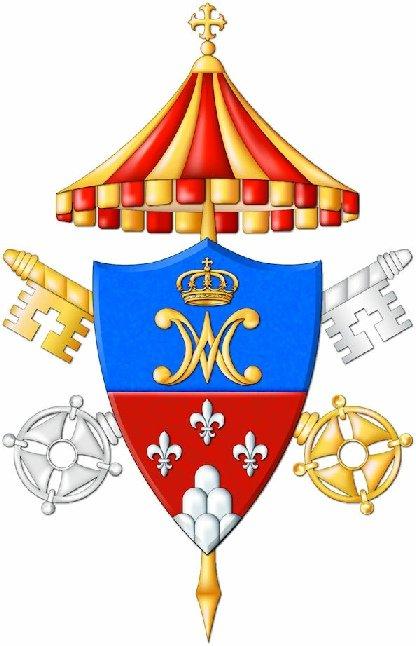 Lo stemma della Basilica romana minore di Santa Maria delle Grazie in Brescia