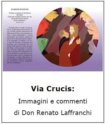 Copertina sussidio: Via Crucis: immagini e commenti di don Renato Laffranchi